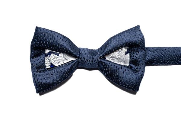Duca gioiello - DGB0310 - Seta Blu - - vetro blu con foglia argento 925 1