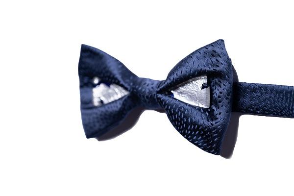 Duca gioiello - DGB0310 - Seta Blu - - vetro blu con foglia argento 925 2