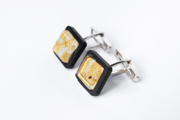 limpero Gemelli - GOA0601 - Gemelli Ebano argento vetro avorio foglia oro 24kt 1-1