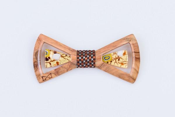 Limpero Gioiello - LGM0516 - Ulivo + seta marrone + vetro bronzo foglia oro 24kt