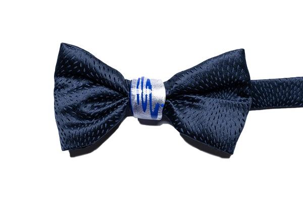 Papillon Duca nodo Gioiello - DNB0204 - Seta Blu - Nodo blu e argento 925 1