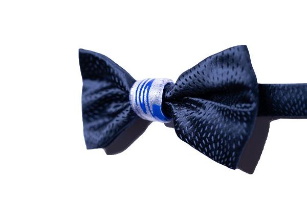 Papillon Duca nodo Gioiello - DNB0204 - Seta Blu - Nodo blu e argento 925 2