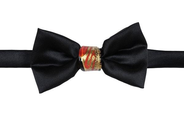 Papillon Duca nodo Gioiello - DNN0202 - Nodo nero, rosso e oro 24Kt